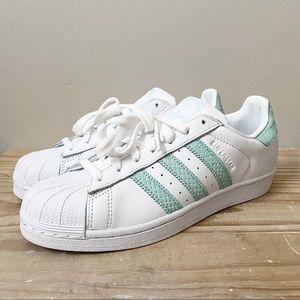 Adidas Originals Superstar W Mint Sneakers NEW